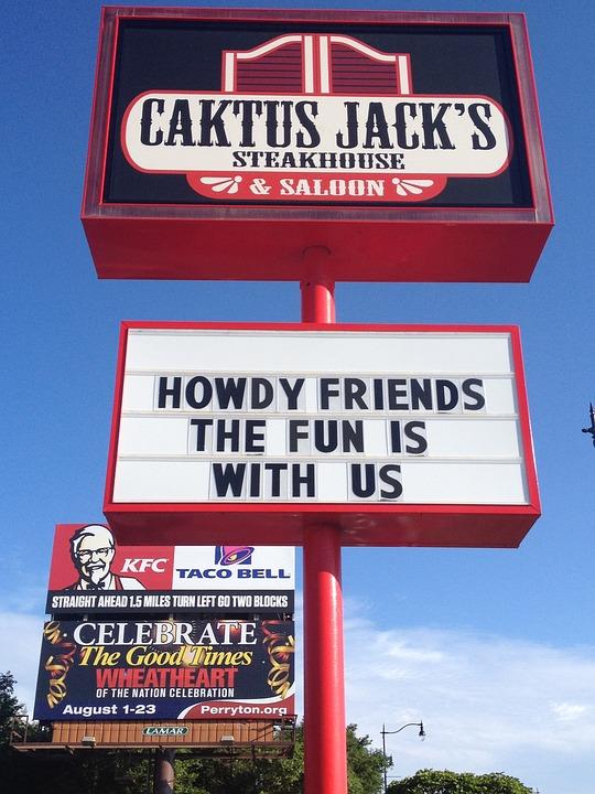 Steakhouse, Caktus Jack, Signs