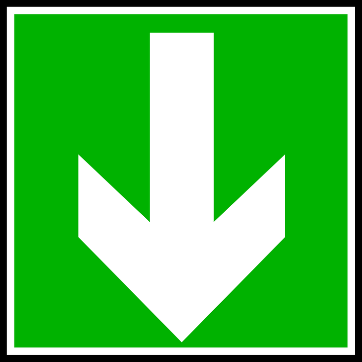Arrow, Down, Direction, Symbols, Signs, Information