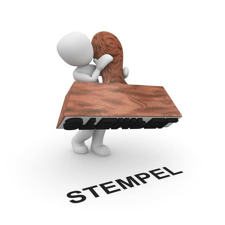 Stamp, Press Up, Imprint, Label, Signum, Characters