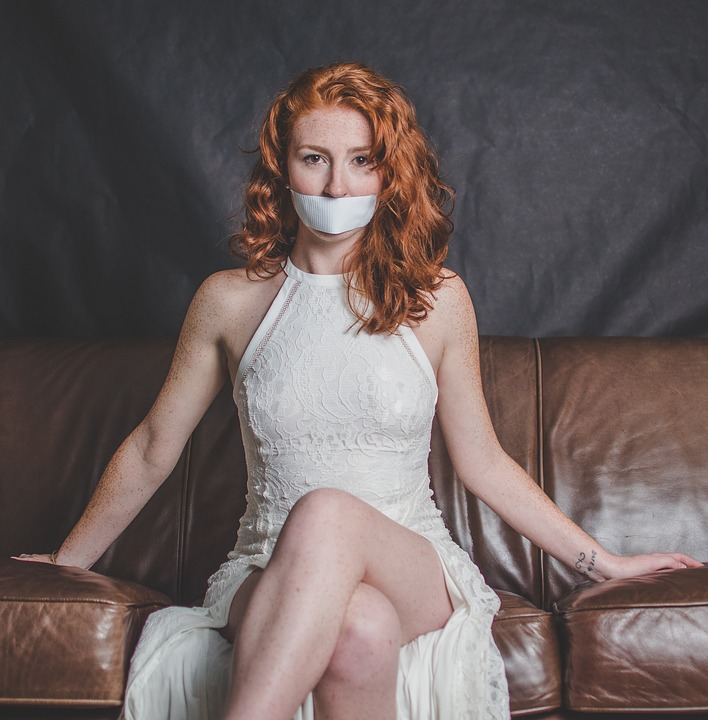 Woman, Silenced, Silence, No Speak, Model, Young