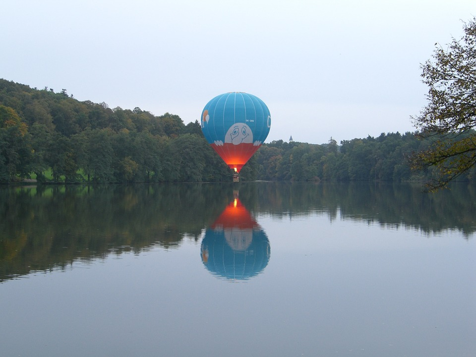 Balloon, Hot Air Balloon, Hover Drive, Lake, Silent