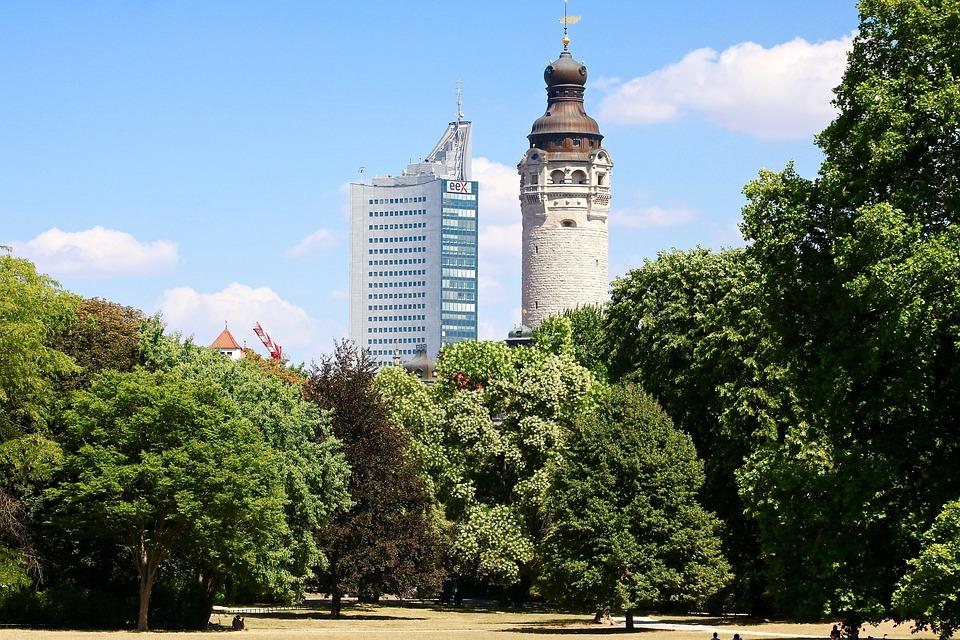 City, Leipzig, Skyline, Silhouette, Architecture