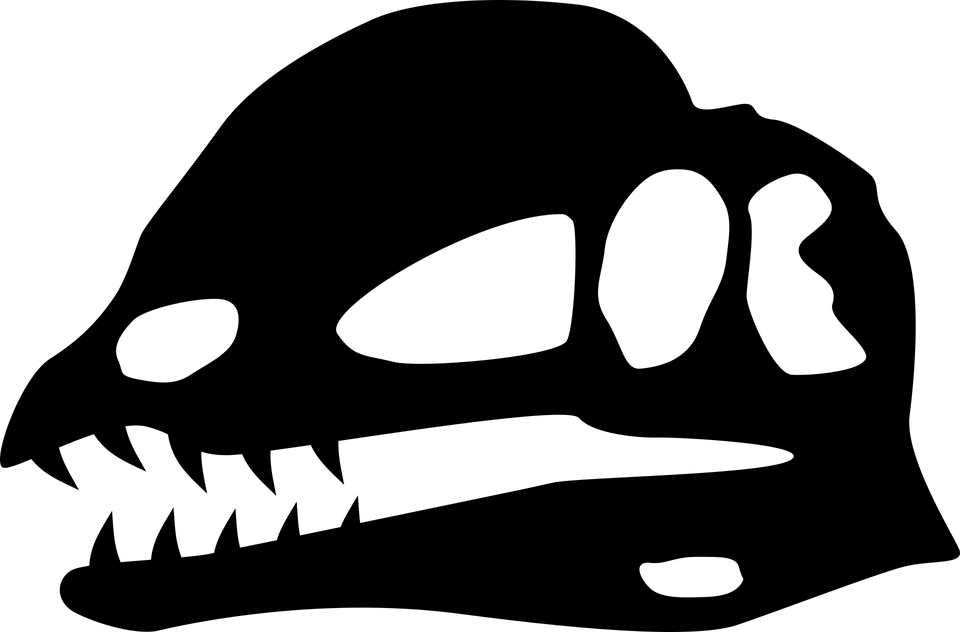 Dinosaur, Skull, Silhouette, Dilophosaurus, Bone, Head