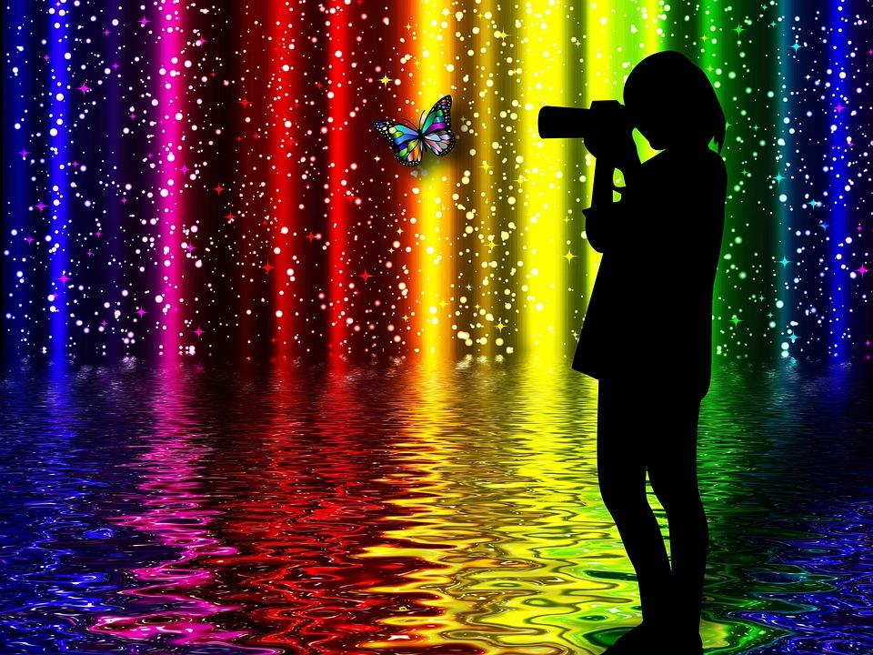 Photographer, Silhouette, Colors, Design, Fantasy