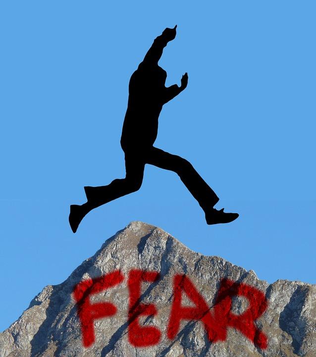 Silhouette, Man, Motivation, Jump, Get Over, Fear