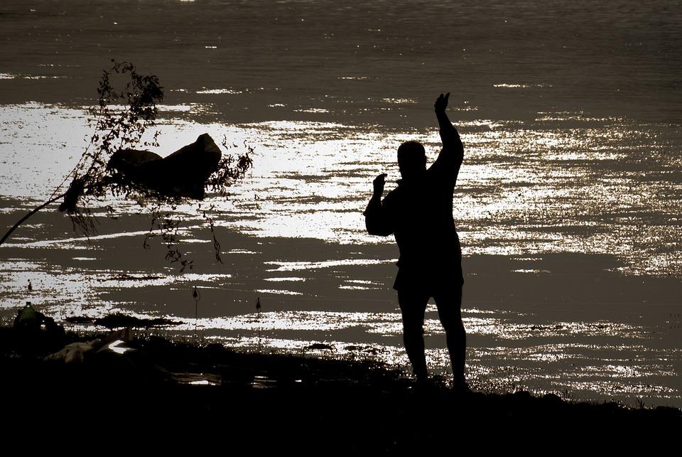 From Adana, Fisherman, Silhouette