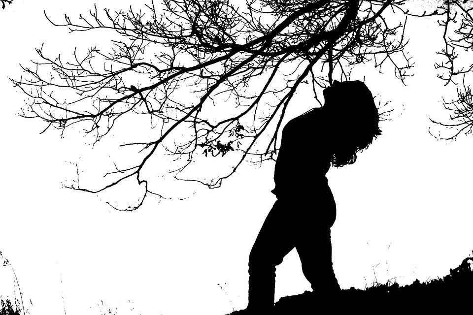 Silhouette, Girl, B W Photography