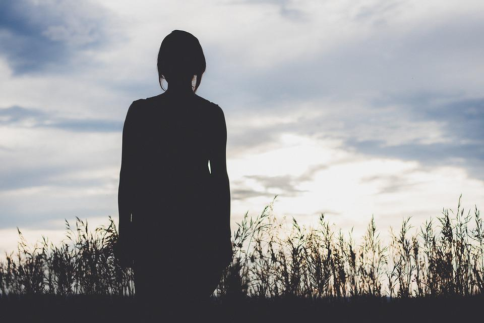 Backlit, Girl, Silhouette, Beautiful, Grass, Landscape