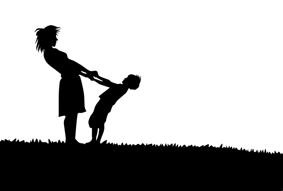 Mother And Son, Silhouette, Family