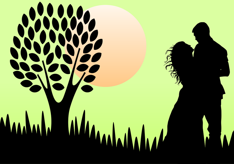 Love, Silhouette, Couple, Relationship, My Dear