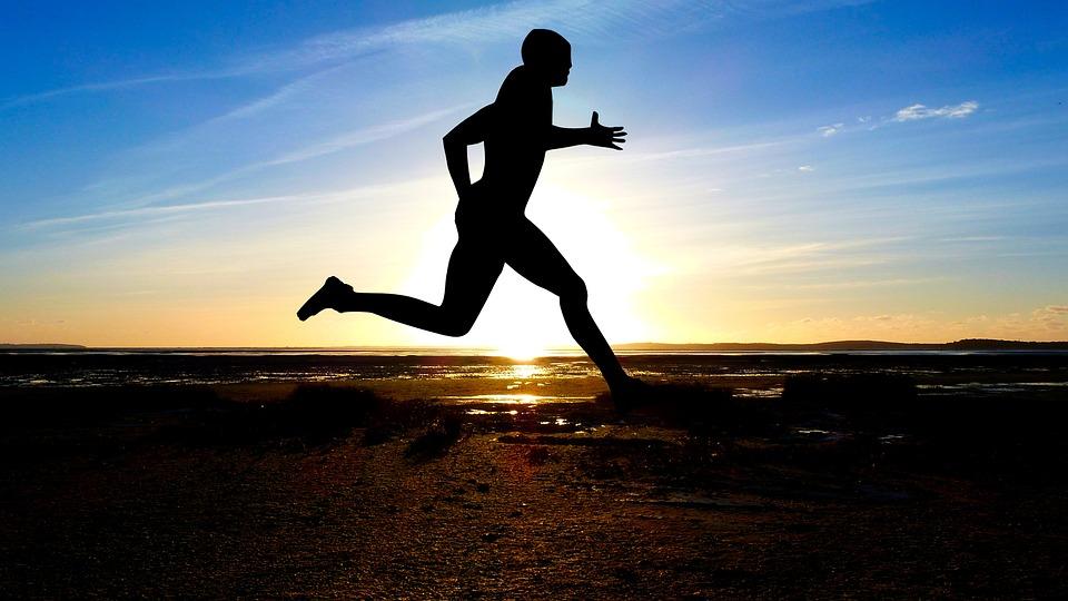 Sunset, Sport, Jogging, Silhouette, Nature
