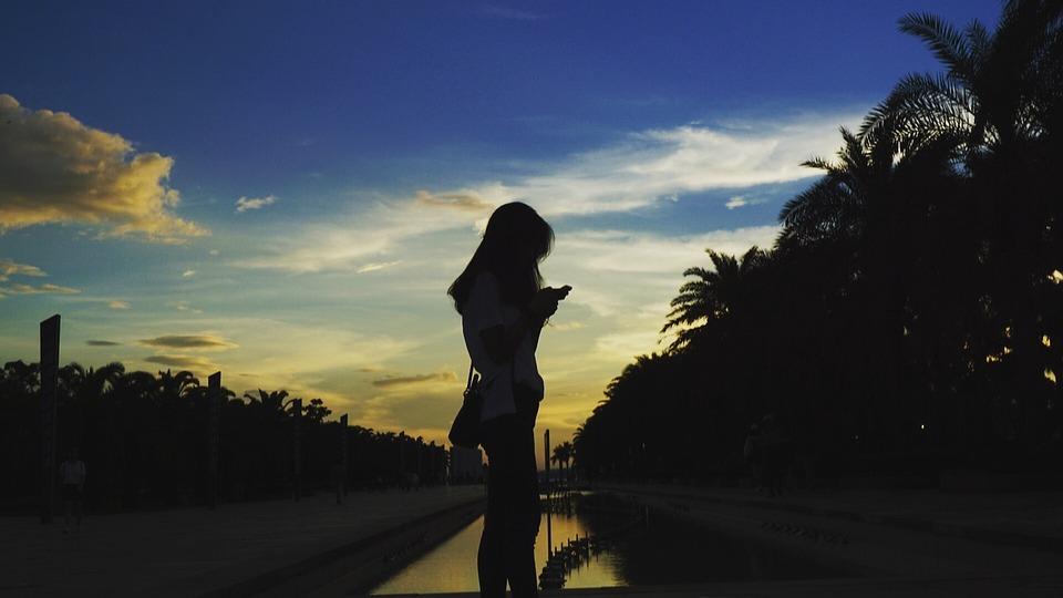 Silhouette, Portrait, Beach