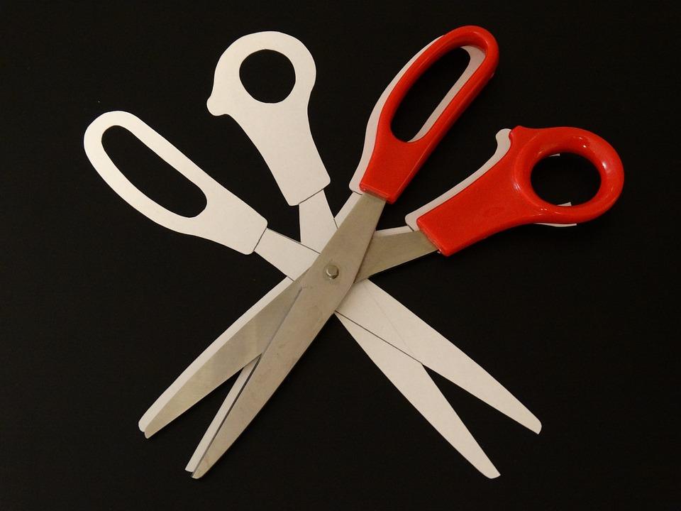 Scissors, Silhouette, Cut, Separate, Cut Out