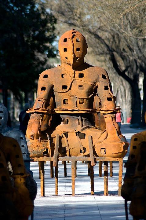 City, Exhibition, Sculptures, Silhouette