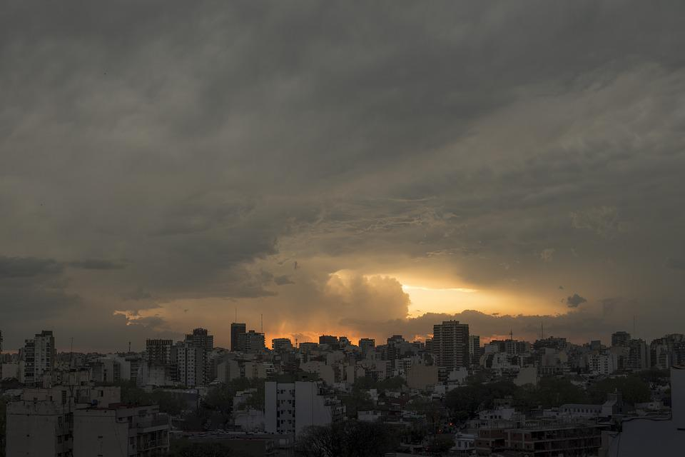 Storm, City, Silhouette, Buenos Aires
