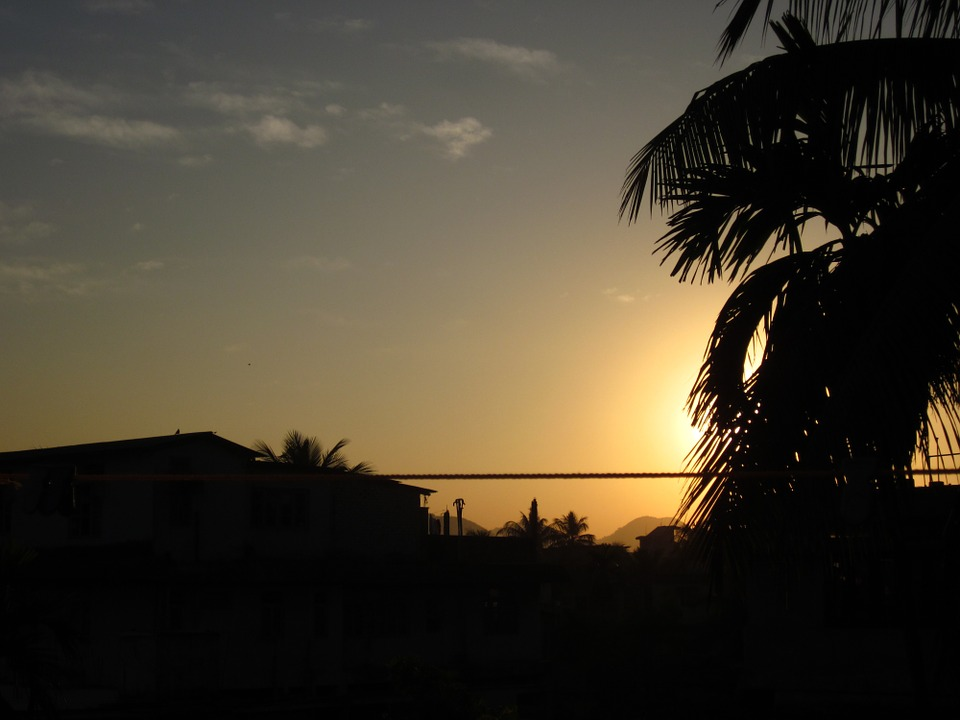 Sunset, Scenery, Silhouette, Tree, Dark, Landscape