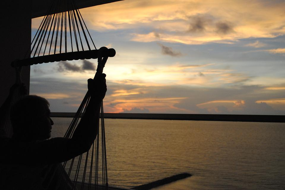 Cartagena, Sunset, Silhouette, Male, Relax, Evening