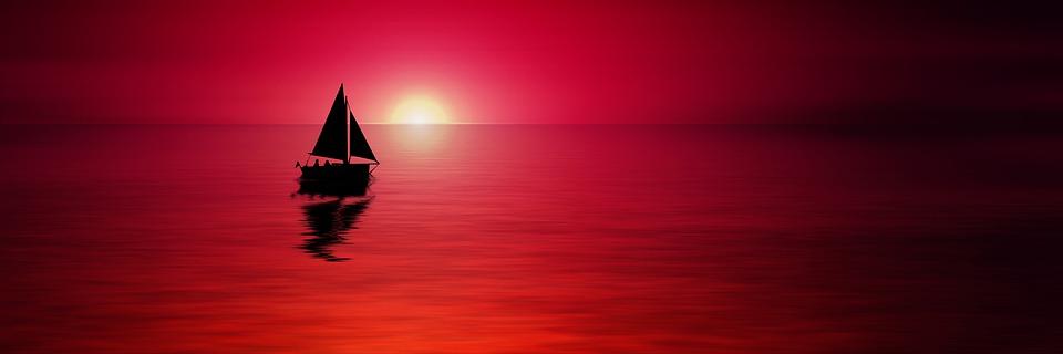 Sunset, Sea, Sailboat, Silhouette, Boat, Sailing Boat