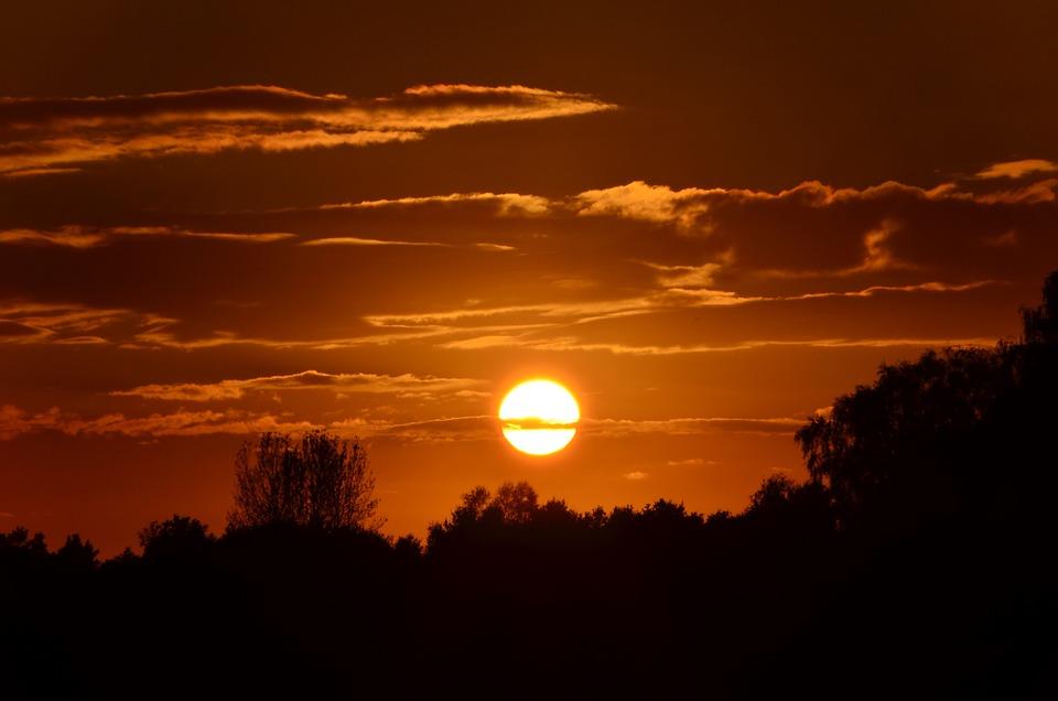 Sunset, Sun, Silhouette, Setting Sun, Abendstimmung