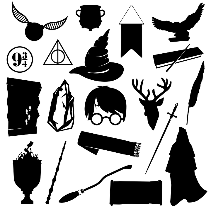 Harry Potter, Silhouettes, Icons, Fiction, Character
