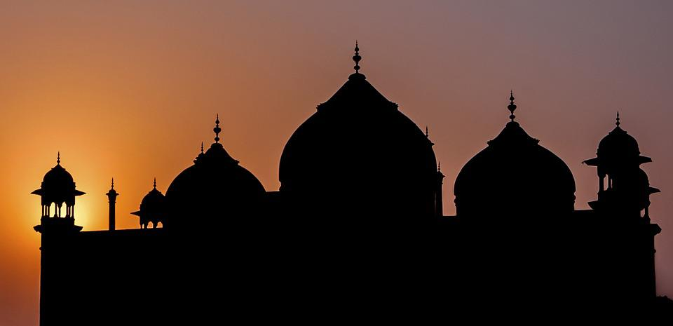 Free photo Silhouettes Taj Mahal Mosque India Sunset Agra  Max Pixel