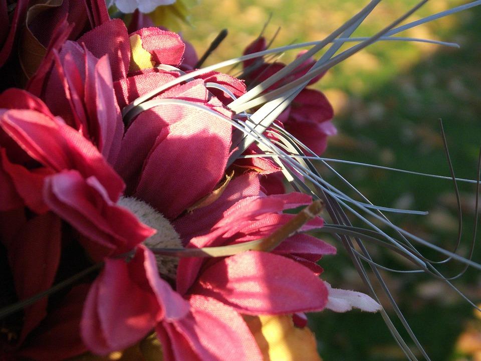 Silk Flowers, Artificial Flowers, Pink Flowers