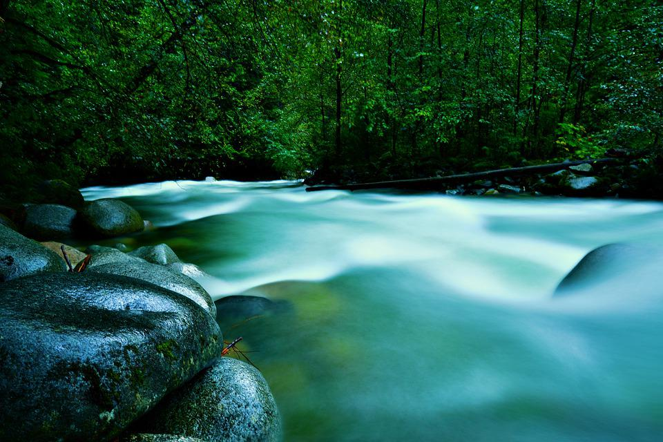 River, Silky Water, Cascading Water, Nature Wonder