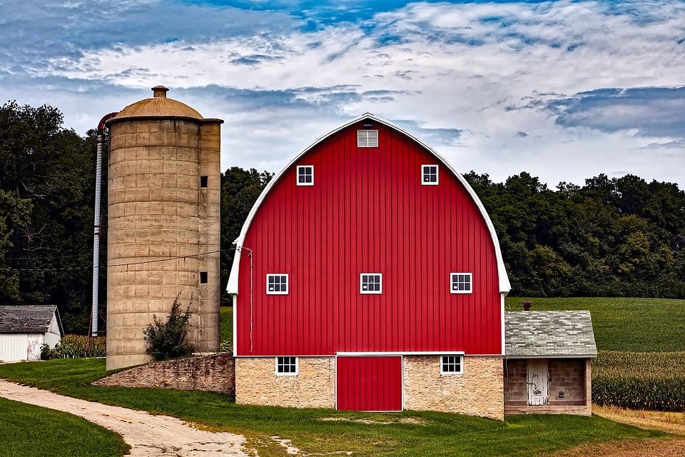 Free photo Silo Rural Wisconsin Farm Red Barn Buildings ...