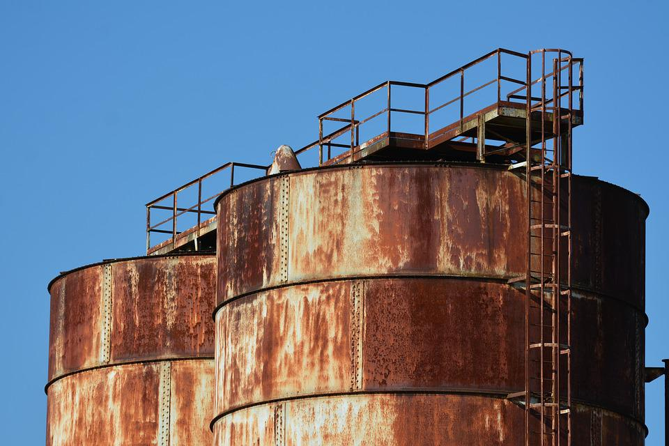 Silo, Storage, Tank, Rust
