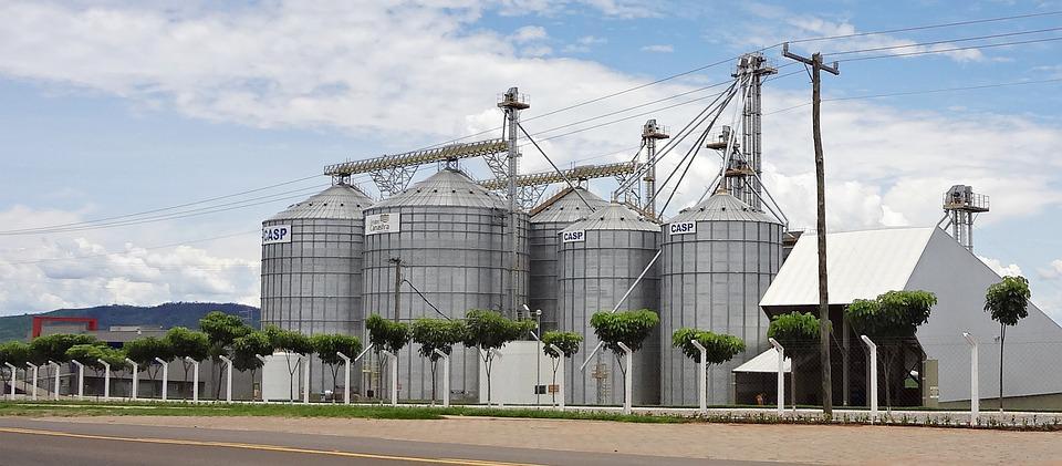 Silos, Industry, Architecture, Agriculture, Food