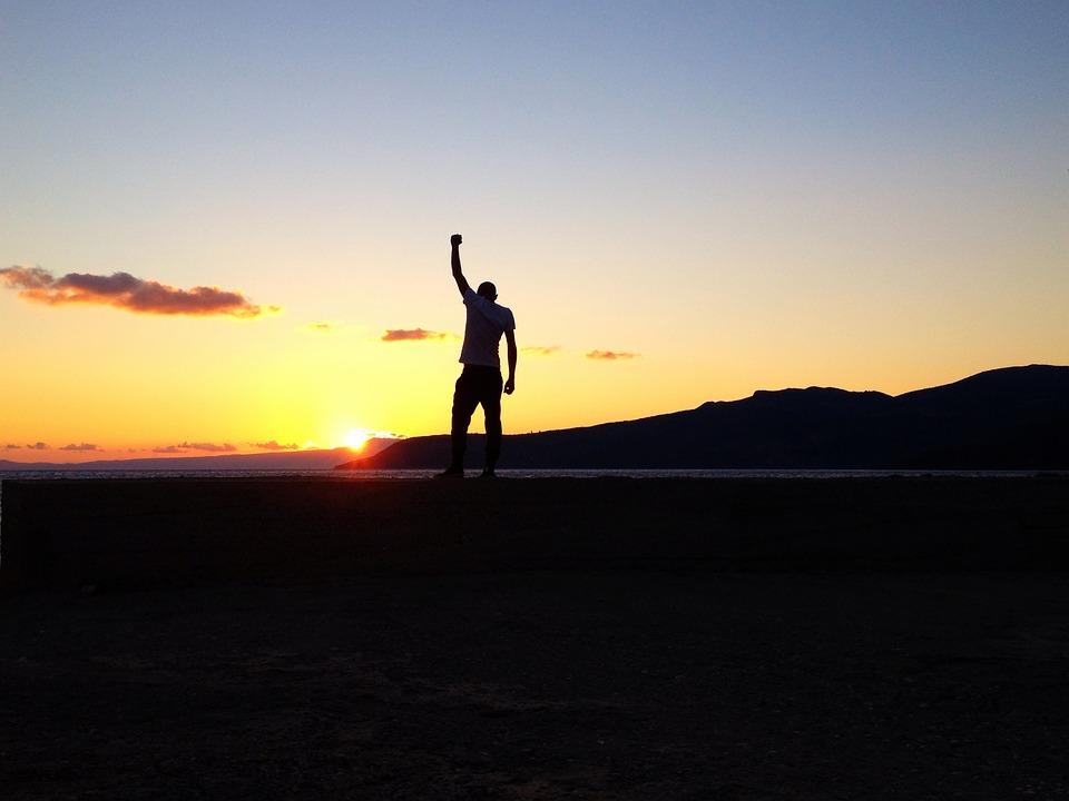 Sunset, Siluet, Man, Light, Shadow, Sun, Summer, Male