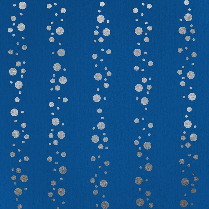 Scrapbooking, Pattern, Bubbles, Blue, Silver, Dots