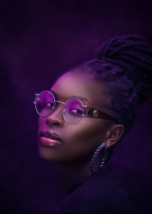 Woman, Model, Silver Framed Glasses, Glasses, Shades