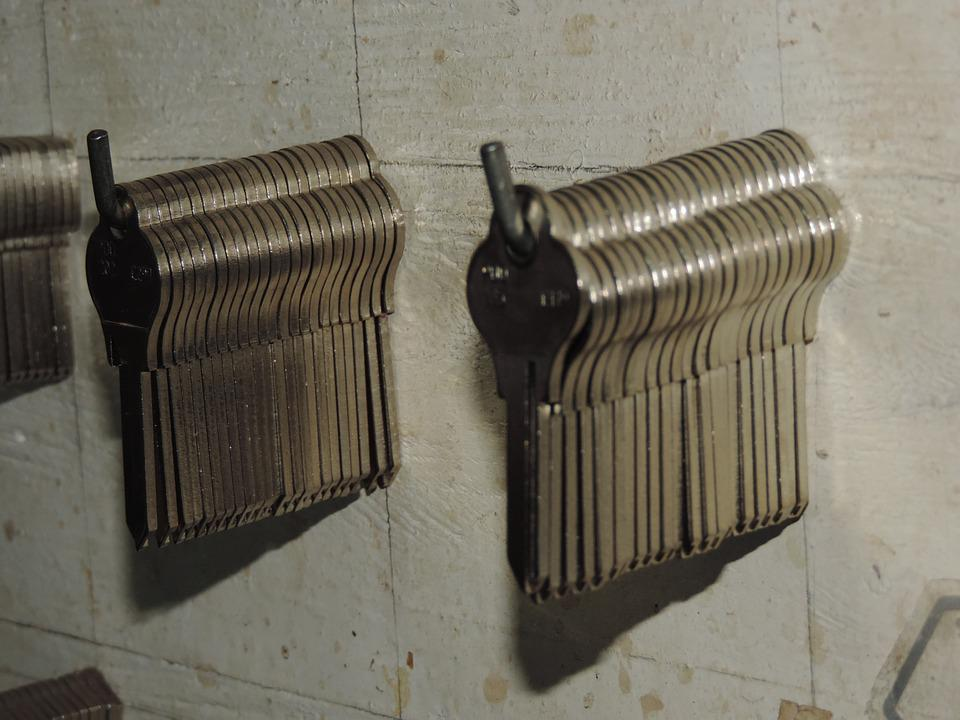 Keys, Set Of Keys, Silver, Panel