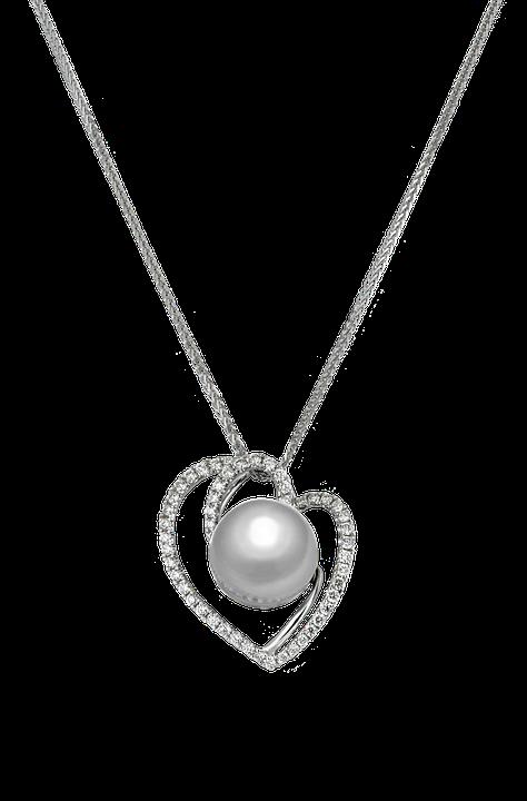 Necklace, Pendant, Pearl Pendant, Pearl, Silver
