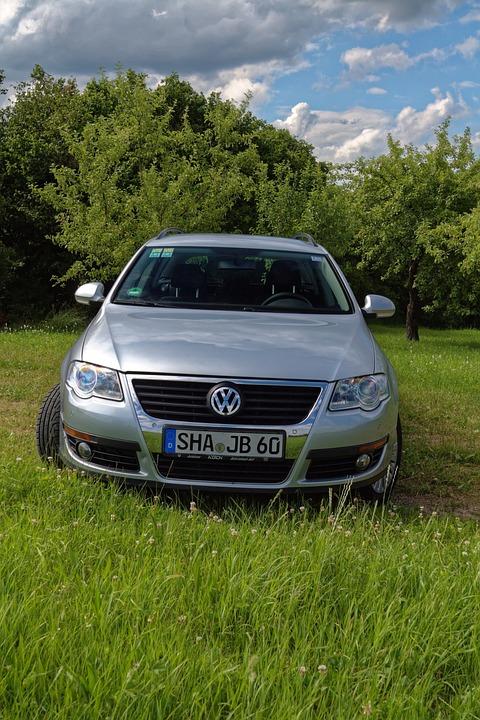 Pkw, Auto, Vw, Volkswagen, Passat, Silver, Metallic