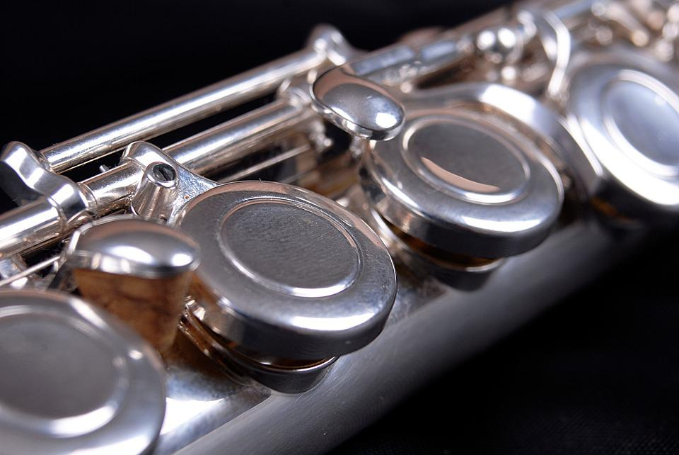 Flute, Keys, Shiny, Instrument, Silver, Wind, Metal