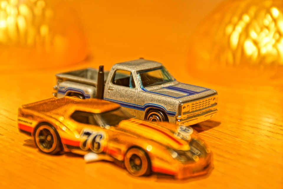 Toy Car, Model Car, Gold, Usa, America, Silver
