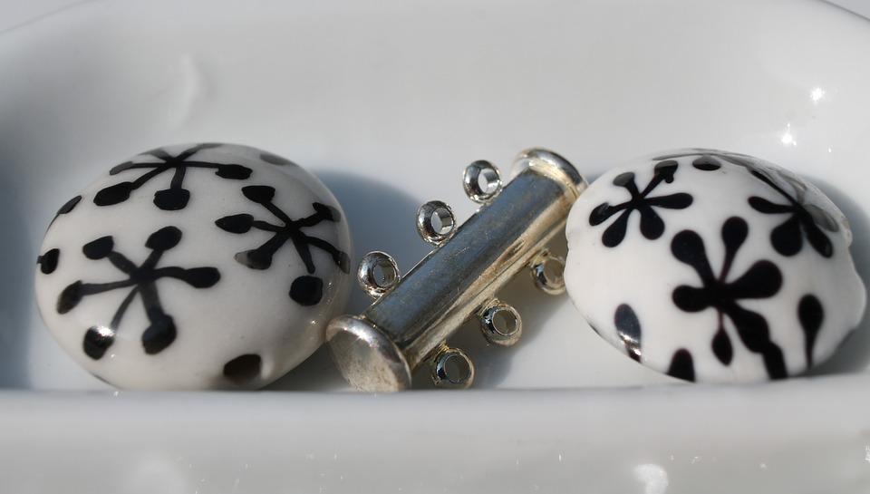 Art, Craft, Beads, White, Black, Silver, Pattern