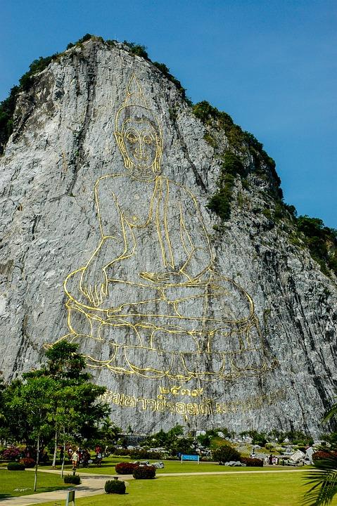 Mountain, Golden Buddha, Silverlake, Thailand