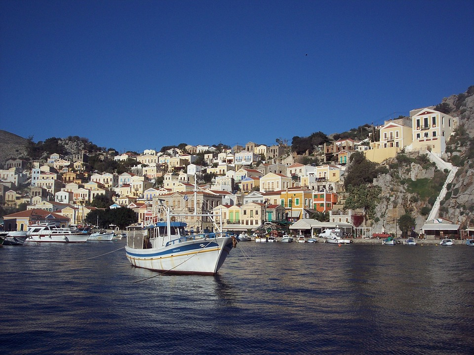 Simi, Boat, Greece, Greek, Island, Symi, Summer, Sea