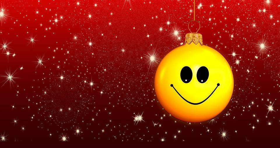 Christmas Ornament, Ball, Simley, Advent