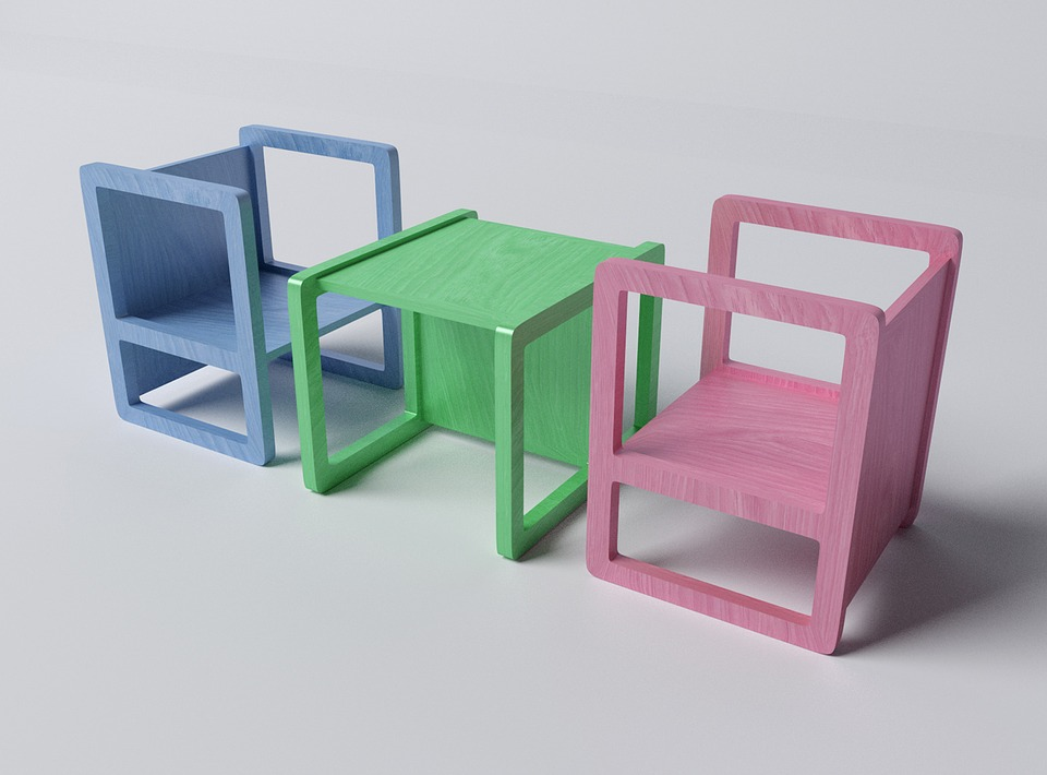 Chairs, Furniture, Design, Children's, Simple