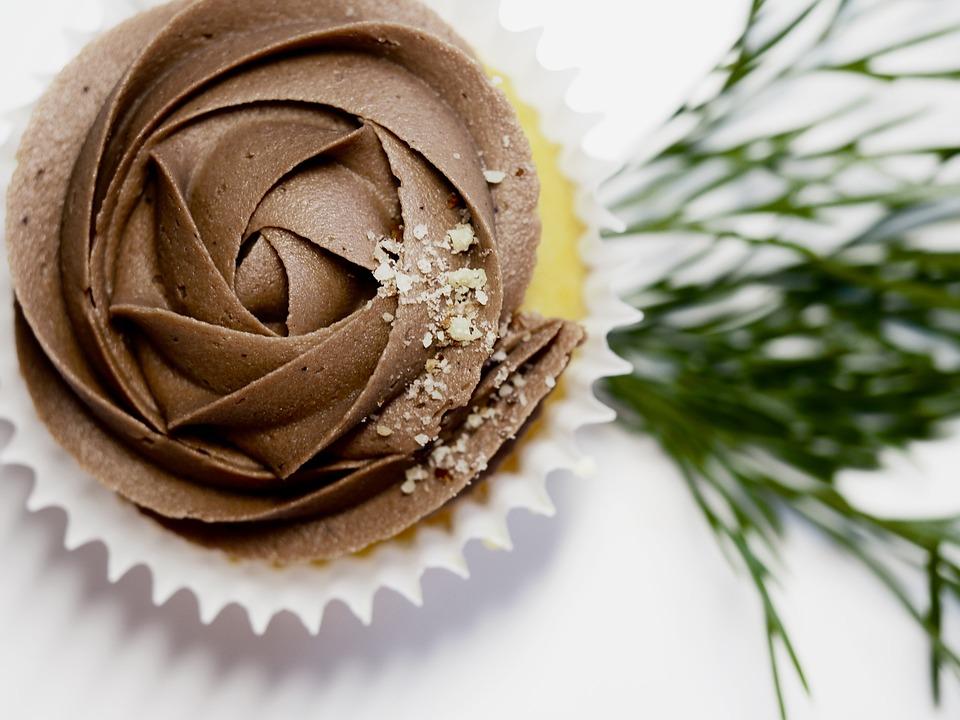 Chocolate, Cake, Cupcake, Icing, Simple, Birthday