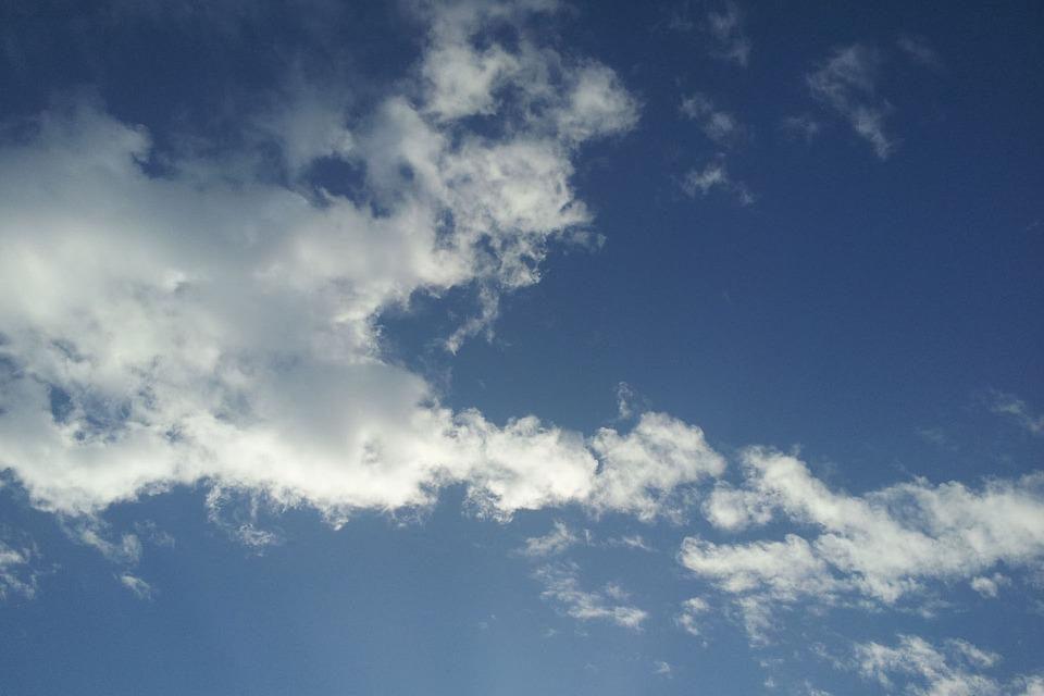 Blue Sky, Simple, Fresh, Sky Blue, Cloud
