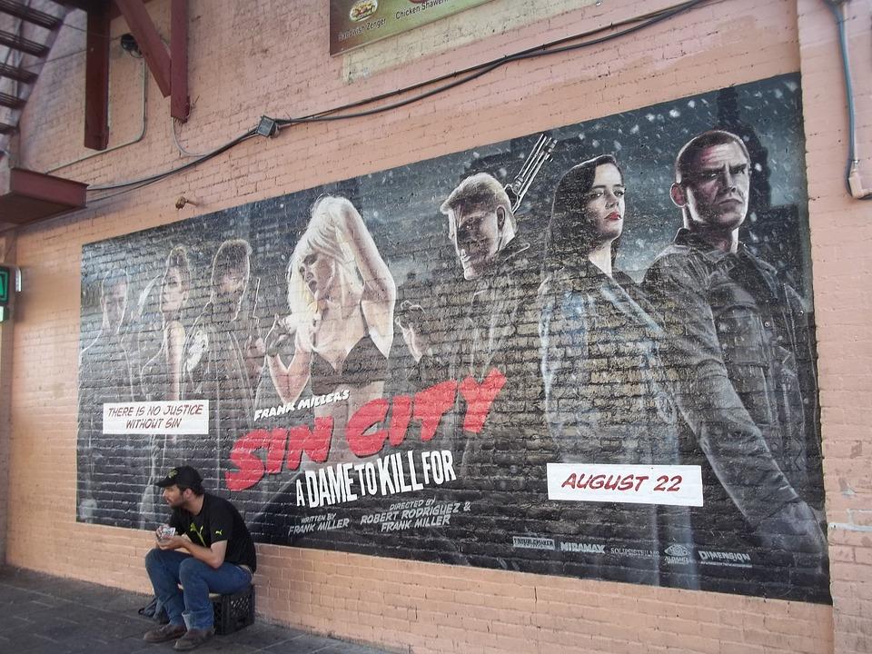 Sin City, Mural, Wall Art, Downtown, Austin, Texas