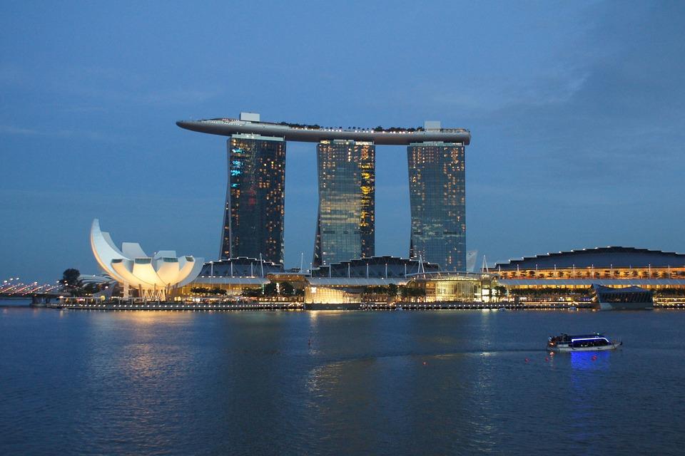 Singapore, Architecture, Marina Bay Sands, Asia, Night