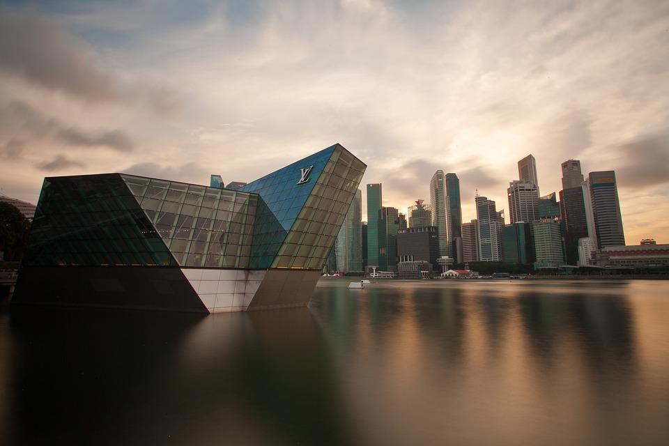 Cbd, Marinarea, Singapore, Building, Louisvuitton, Sky