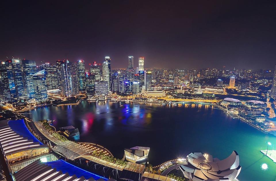 Singapore, Marina Bay Sands, Skypark, Marina Bay