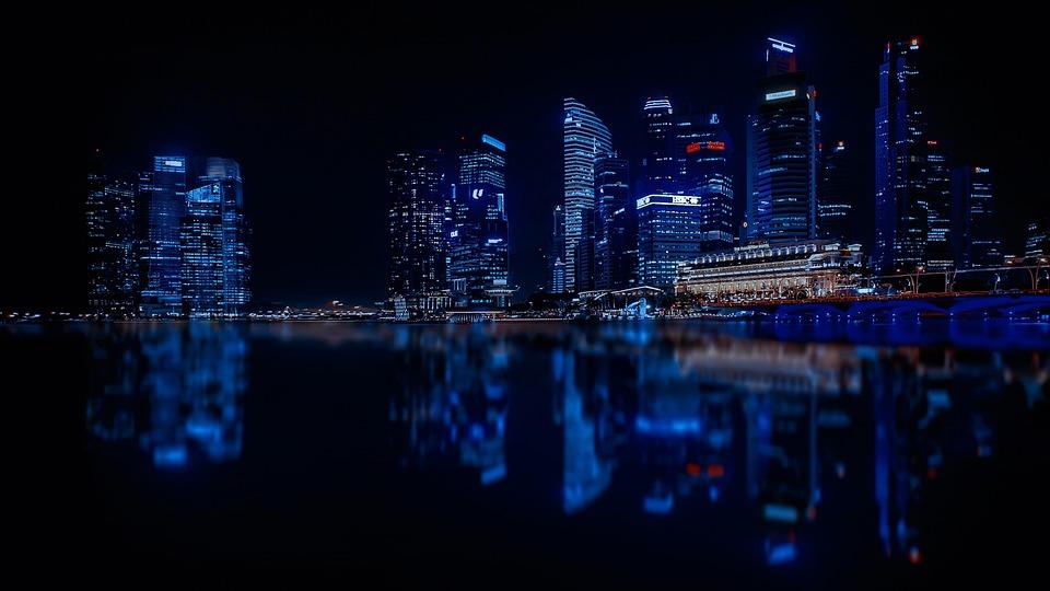 Singapore, Skyscrapers, City, Modern City, Architecture
